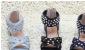 定做批发日单2011夏季新款女童牛仔风铆钉凉鞋